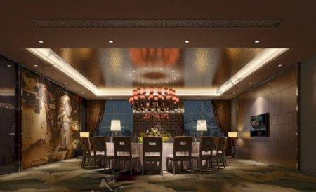 简欧风格商业酒店3d模型素材