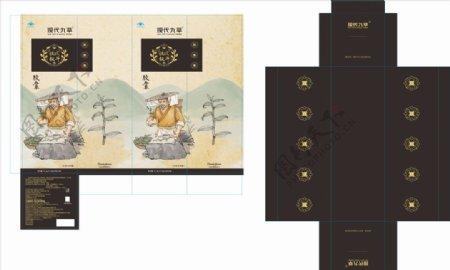 铁皮枫斗复古包装设计
