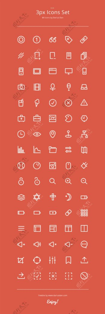 3px多种icons