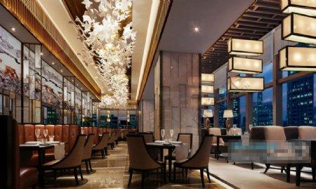 流行时尚日式风格餐厅素材图