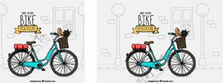 Lovley自行车具有手绘风格