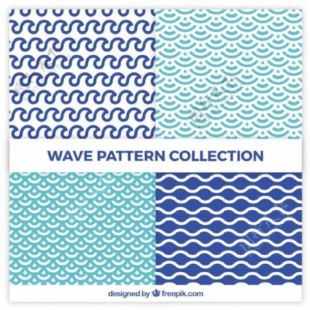 具有抽象形状的波型集