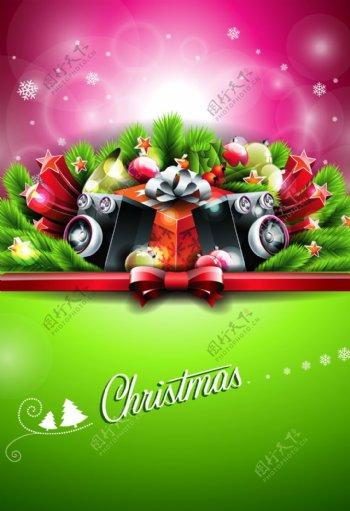 欢乐华丽圣诞趴海报背景