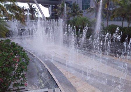 三亚国际免税城喷池