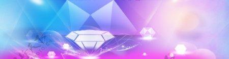 五彩钻石活动背景图