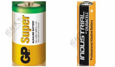两种型号电池免抠png透明图层素材