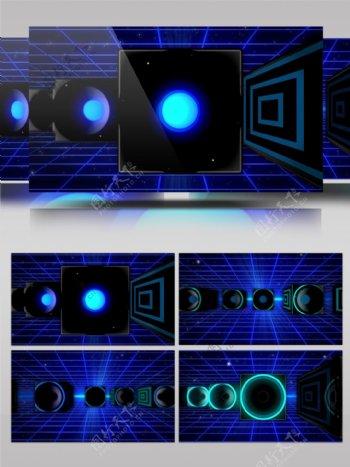 蓝色背景墙视频素材