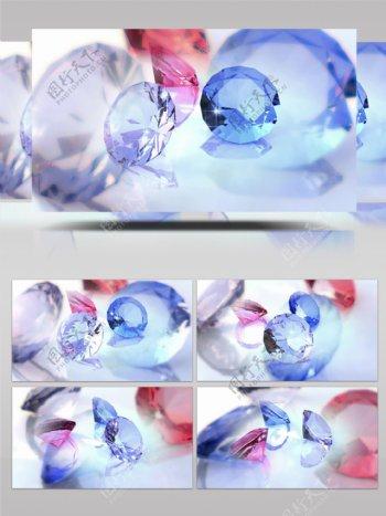 唯美爱情五彩钻石宝石浪漫展示宣传