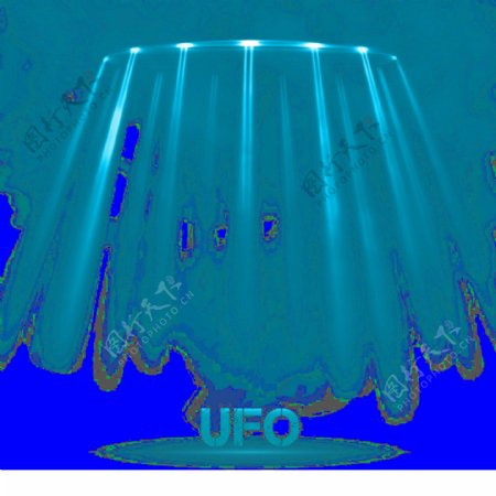 ufo飞碟装饰素材