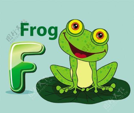 青蛙荷叶矢量素材