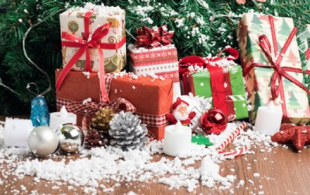 圣诞新年喜庆底图素材