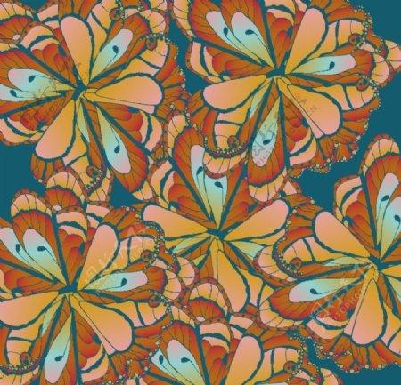 家装图案墙纸植物花卉叶子素材
