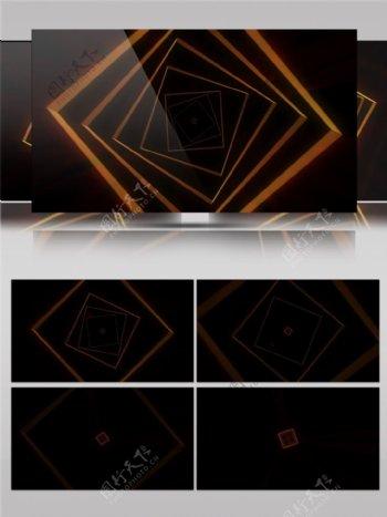 金色光束方块视频素材