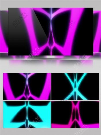 紫色光束蝴蝶视频素材