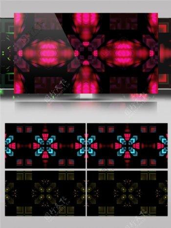 红色光束卫星视频素材