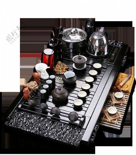 文雅内涵深色茶具产品实物