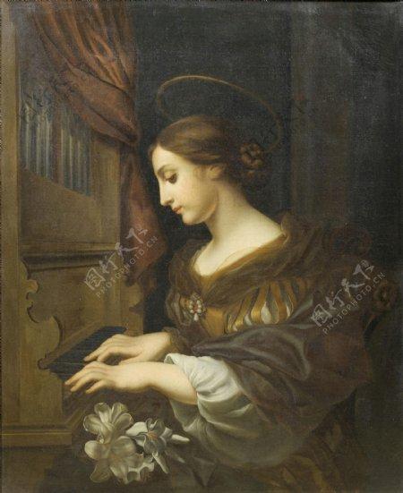 欧美女人弹琴的女人