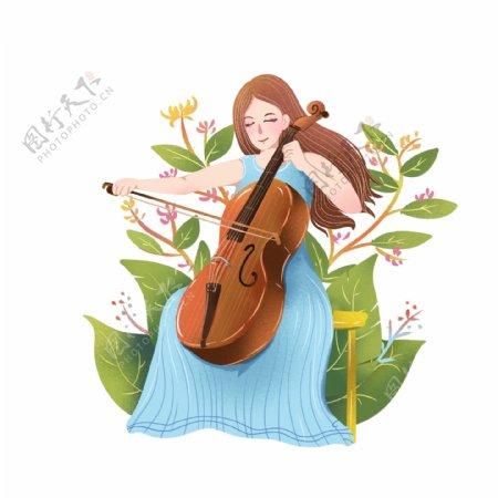 乐器演奏者大提琴