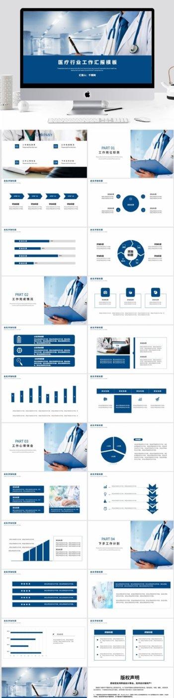 医疗行业工作汇报模板
