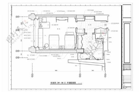 酒店标准间CAD平面方案规划