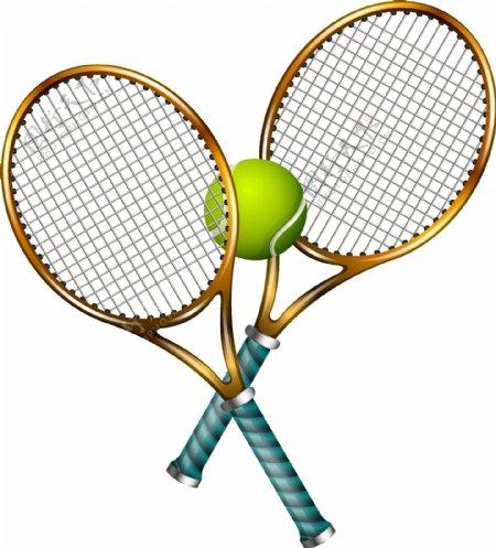 运动休闲网球拍矢量图