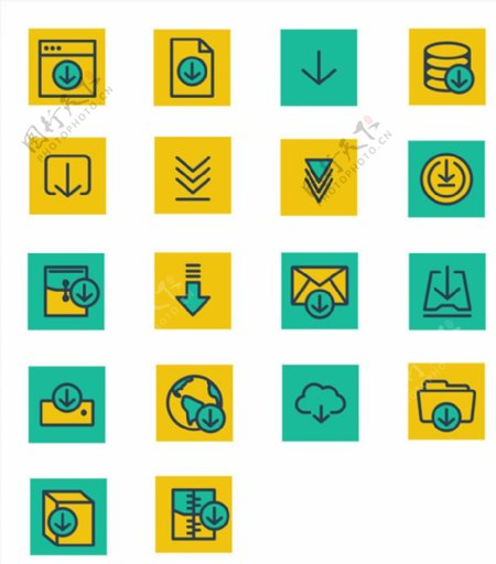 网页下载标志图标ICO格式