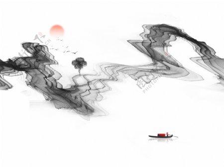 水墨抽象画写意装饰画