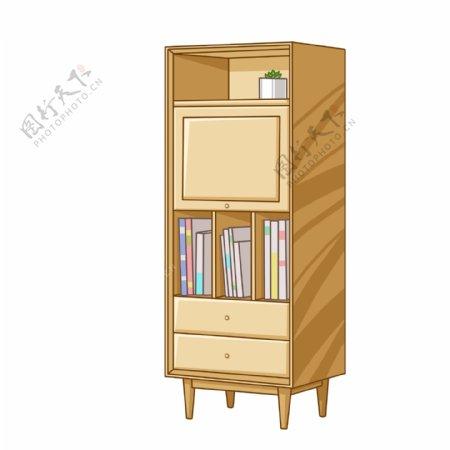 卡通手绘家居书柜