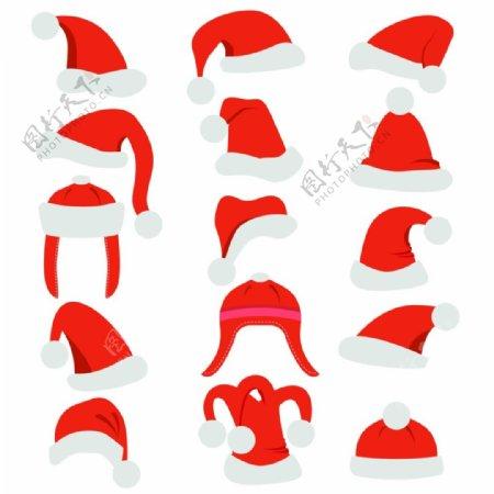 多款圣诞老人的帽子图标