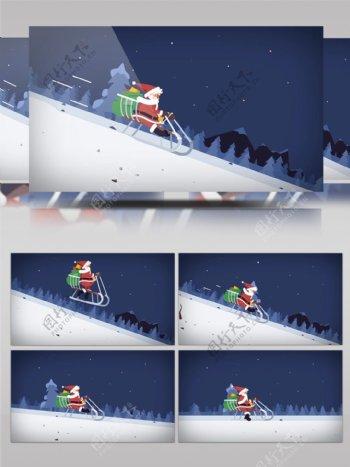 圣诞老人节日祝福视频片头AE模板
