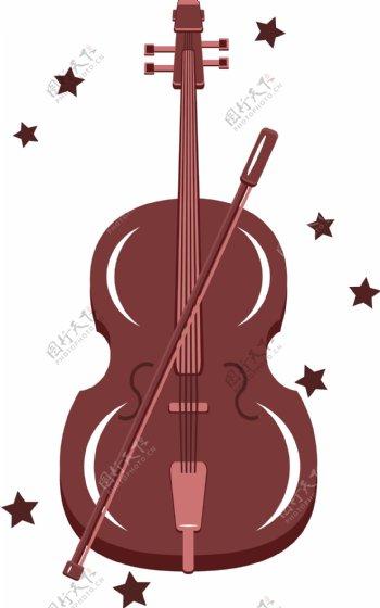 音乐乐器大提琴元素