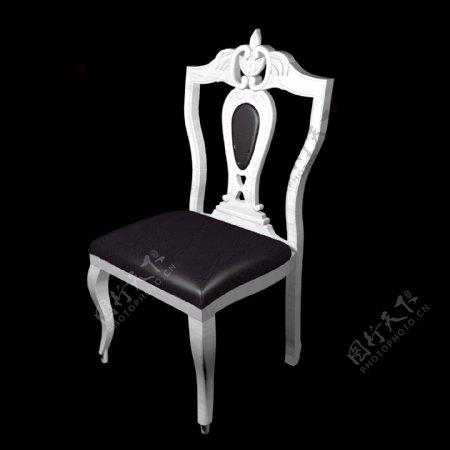 纯白木纹简欧化妆椅