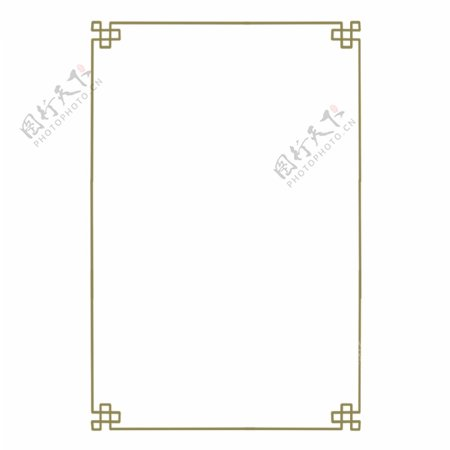 古典中国风纹理边框