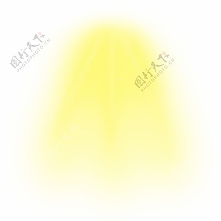 金黄色耀眼顶光光束