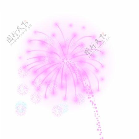 节日庆祝烟花礼花元素