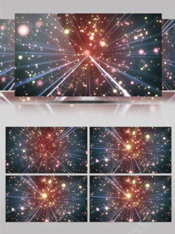 动感酷炫金色粒子光线穿梭通用舞台背景