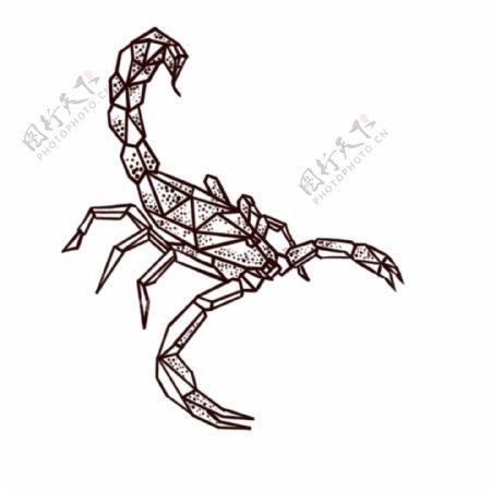 欧美纹身手稿手绘天蝎纹身