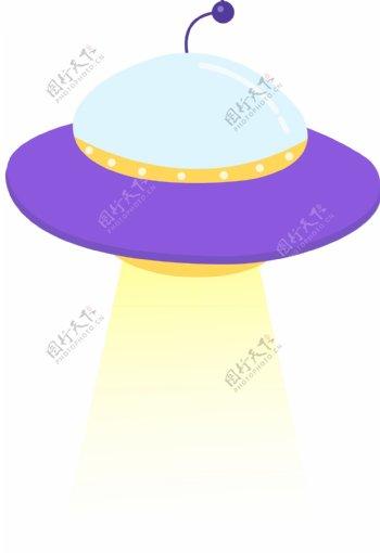 UFO不明飞行物卡通矢量手绘