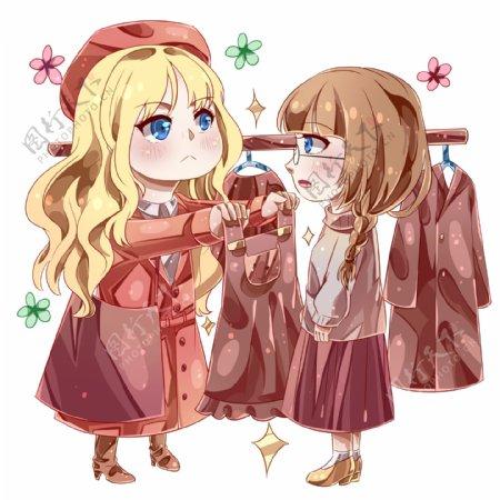 双十一的购物女孩