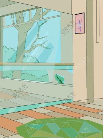 手绘家居室内背景设计