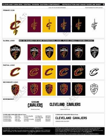 新版NBA克利夫兰骑士logo