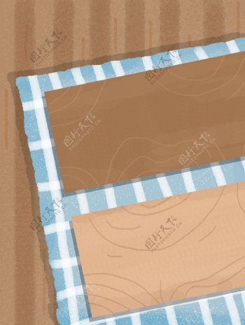 手绘家居地毯背景设计