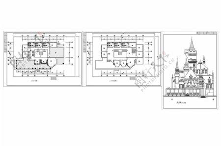 欧式风格CAD建筑施工图