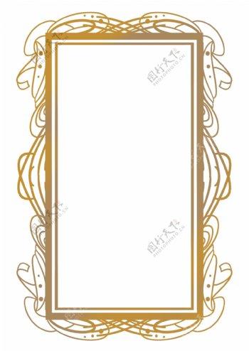 金色花纹纹理边框