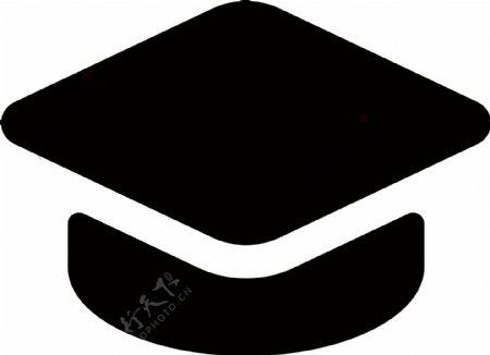 黑色学士帽图标