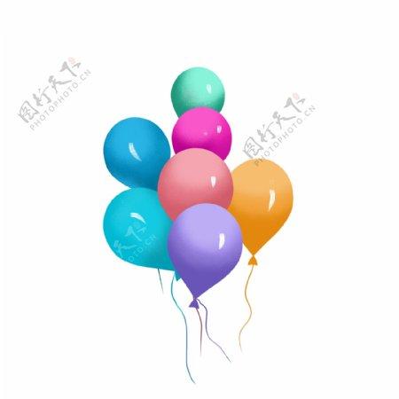 彩色卡通气球节日气球
