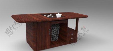 具有收纳功能的多功能茶几外观设计3D模型
