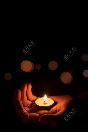 重大灾难祈福祈祷背景素材