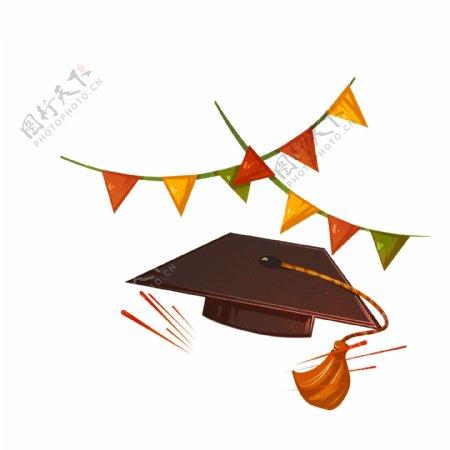 学士帽旗帜装饰