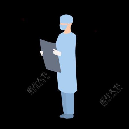 蓝色医疗服饰人物